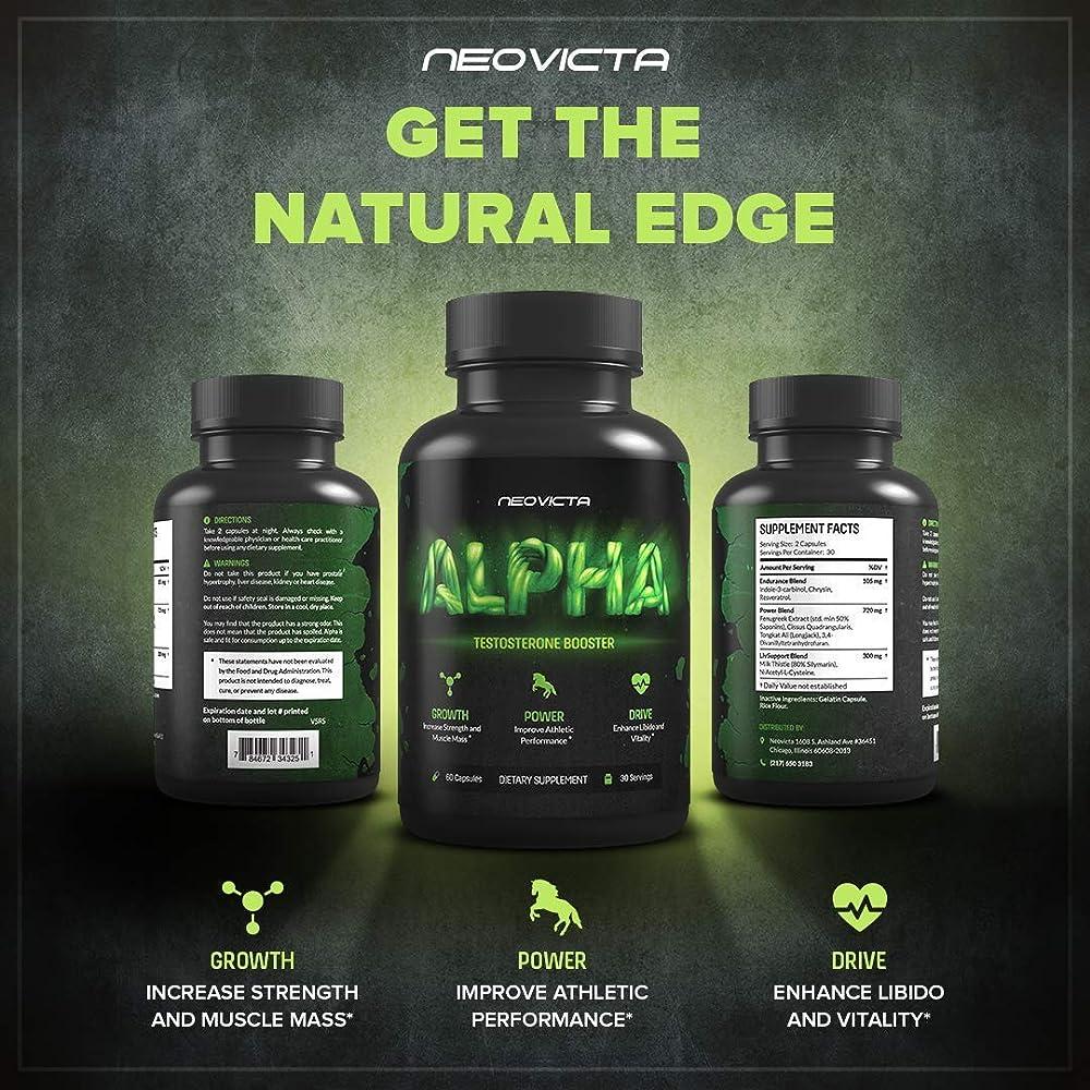 Neovicta Alpha Testosterone Booster for Men - Male Enhancing Pills - Enlargement Supplement