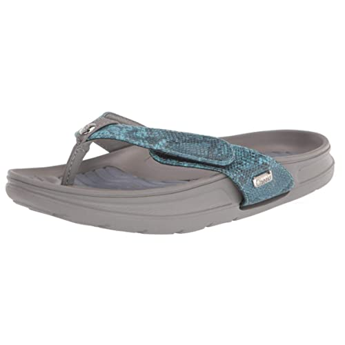 Tony Little Cheeks 3 Interchangeable Fashion Strap Sandal with Arch Support Blue