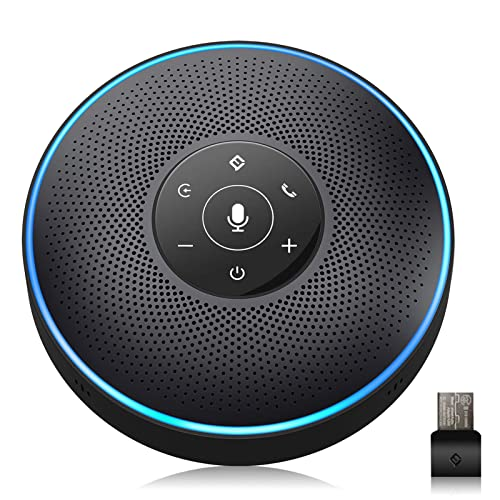 Bluetooth Speakerphone - Conference Speaker for 10-10 People Business  Conference Phone 10º Voice Pickup 10 AI Microphone Self-Adaptive Conference  Call