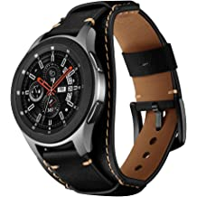 f9fbfd9988c1f Balerion Cuff Genuine Leather Watch Band,Compatible with Galaxy Watch  46mm,Gear S3,Fossil Q Explorist/Q Marshal Gen 2 and Other Standard 22mm .