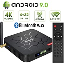 a52cb784848 Android 9.0 TV Box, Pendoo X6 PRO Android TV Box 4GB RAM 32GB ROM,  Dual-WiFi 2.4GHz/5GHz BT5.0 Quad Core 64 Bits 3D/4K Full HD/H.265/USB3.0 .