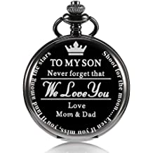 501b41a88 جيب ساعة هديه لابن, إلى ابني | جيب ووتش هدايا لابن من أمي وابي لعيد الميلاد  ، عيد .